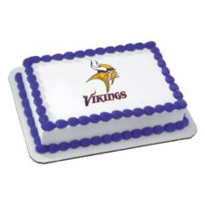 DecoPac 44270 Edible Image Minnesota Vikings Cake Decoration - 6 / BX