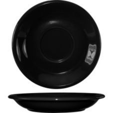 "International Tableware 81376-05S Cancun Black 6-1/2"" Saucer - 36 / CS"