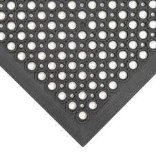 NoTrax 755-100 Black Beveled Edge 3' x 5' Competitor® Floor Mat