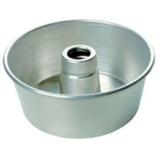 "Focus Foodservice Glazed Aluminum 9-1/4"" Tube Cake Pan"
