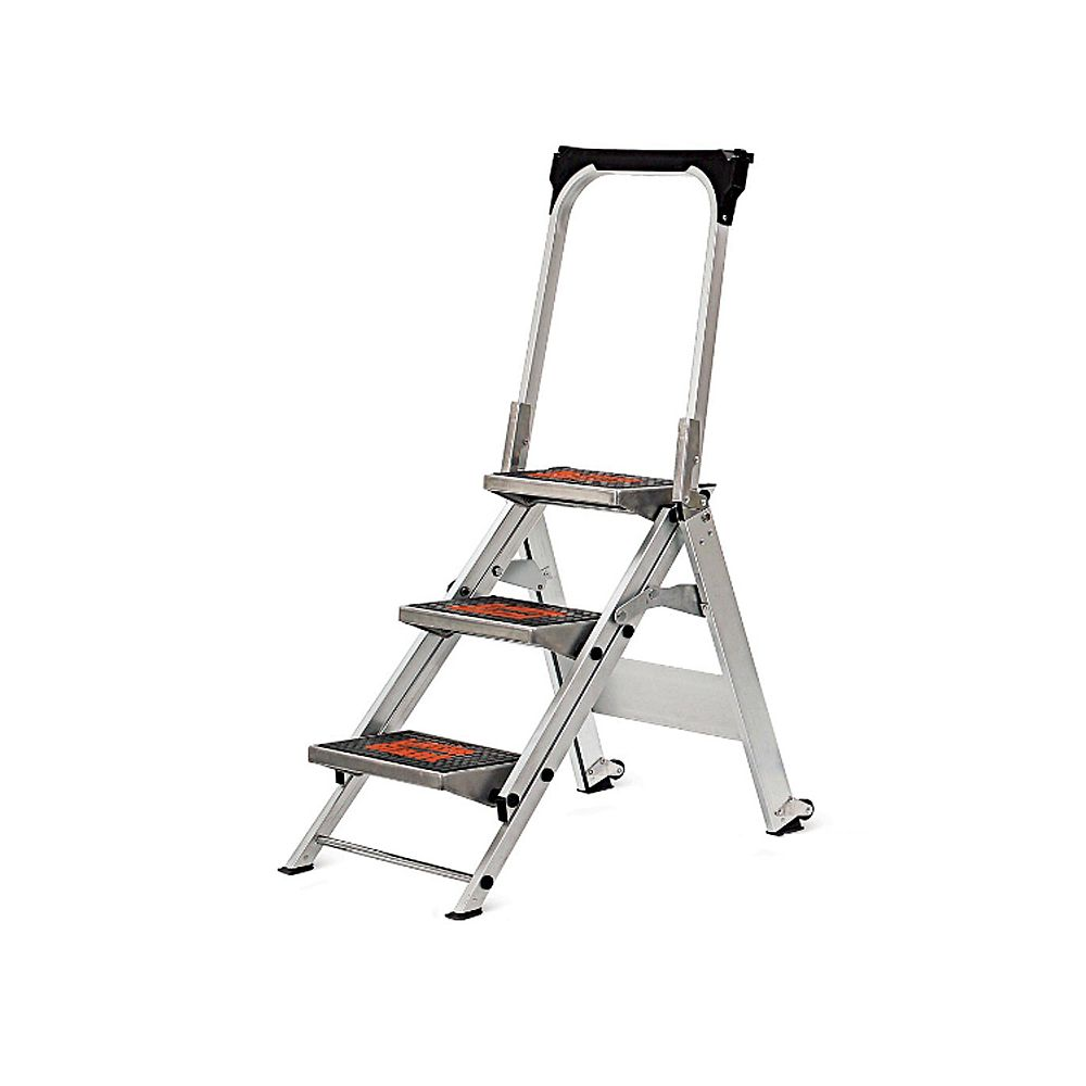 Little Giant 10310B 3 Step Ladder With Handle