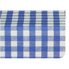 Marko® 57661554L002 Fashion 15 YD Blue Gavin Check II Tablecloth
