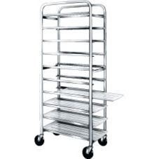 Win-Holt® Full Height Mobile Platter Rack with Open Sides