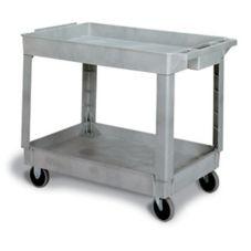 "Continental 5800GY Gray 2-Shelf 34"" Utility Cart"