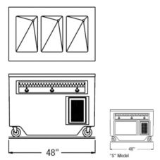 """Randell® RANFG HTD-3S 48"""" Open Cabinet Base Hot Food Table"""