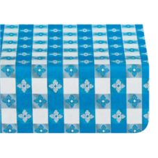 "Marko 57171554L002 Fashion™ 54"" x 15 YD Blue Check Tablecloth"