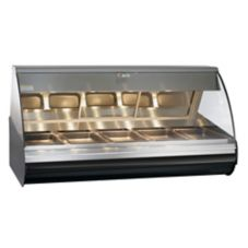 Alto-Shaam® HN2-72/PL-BLK Halo Heat Left-Side Self-Serve Deli Case