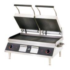Star® CG28IEA-208V Pro-Max Double Width Iron Panini Grooved Grill