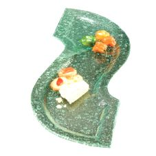American Metalcraft Glacier™ 24 In S-Shaped Bubble Glass Platter