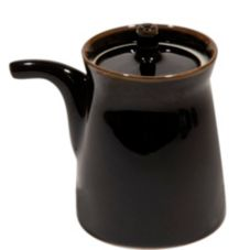 Korin Japanese Trading SPT-1A-007/B 5 Oz. Black Porcelain Sauce Pot