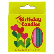 "Sterno® Plain 2-1/8"" Birthday Candles"