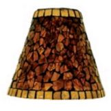 "Sterno® Amber Mosaic 5-1/2"" Glass Shade"