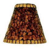 "SternoCandleLamp 85426 Amber Mosaic 5-1/2"" Glass Shade - 6 / CS"