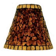 "Sterno Products® 85426 Amber Mosaic 5.5"" Glass Shade - 6 / CS"