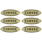 Myco Tableware EFTCOFFEE Adhesive Domed Coffee Flavor Tags