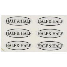 Myco Tableware EFTHALF Adhesive Half & Half Flavor Tags