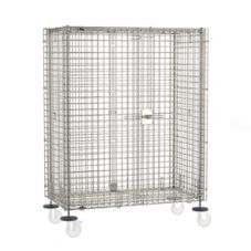 "Metro® SEC56S-SD S/S 27-1/2""W x 65""L Mobile Security Unit"