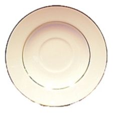 "Homer Laughlin China 0701-1409RR Diplomat Gold 5-3/4"" Saucer - 36 / CS"