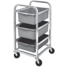 "Channel Aluminum Bus Box Cart w/ 5"" Stem Casters"