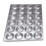 "Adcraft® AMP-24 20-1/2"" x 14"" Aluminum Muffin Pan"