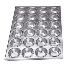 "Adcraft® AMP-24 20-1/2"" x 14"" Aluminum Muffin Pan"