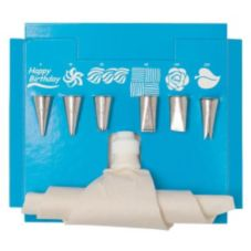"Ateco 334 Cake Decorating Set with 10"" Flex Pastry Bag"