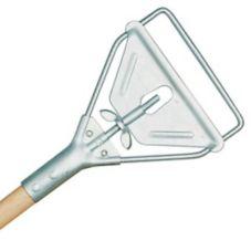 "Rubbermaid FGH416000000 60"" Wood Mop Handle w/ Steel Stirrup Head"