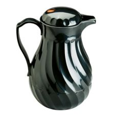 Vollrath® 52170 SwirlServe Black Hot-N-Cold 42 Oz. Beverage Server