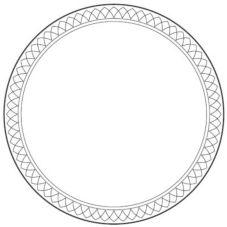 "Homer Laughlin 0347-1496 Gothic® Golden Knights 9"" Plate - 24 / CS"