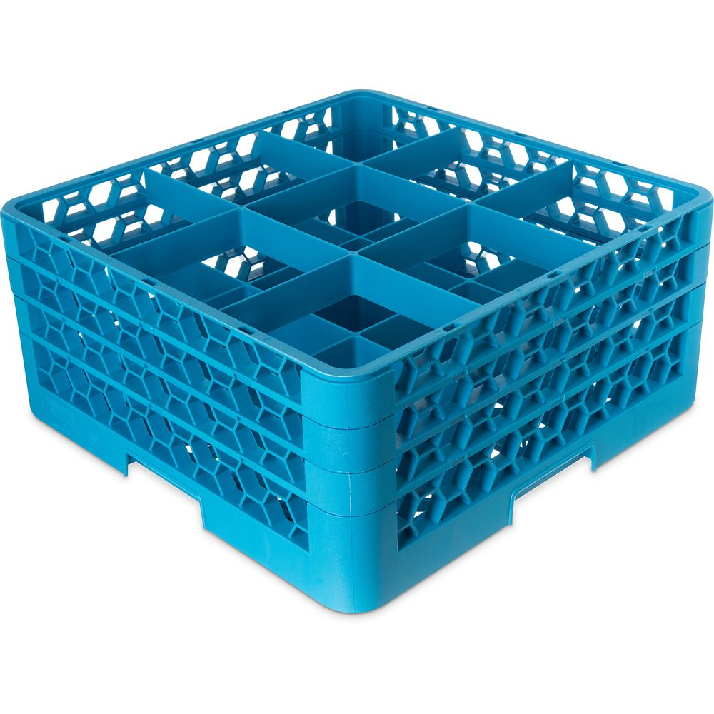 OptiClean Carlisle RG9-314  Blue 9-Compartment Glass Rack at Sears.com