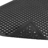 NoTrax® 755-304 Black 3' x 5' Anti-Fatigue Rubber Floor Mat