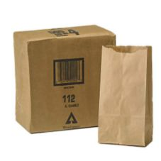 Duro Bag Co. 10100574 4 lb. Kraft Paper Grocery Bag - 500 / PK