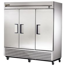 True TS-72 TS-Series 3-Solid Full Door 72 Cu Ft Reach-In Refrigerator