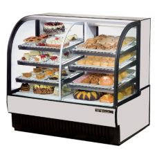 True TCGDZ-50 White Dual Zone Refrigerated / Dry Bakery Display Case