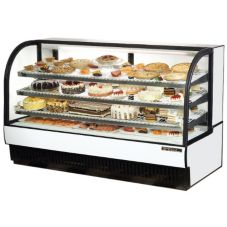True® TCGR-77 Black Exterior 43 Cu. Ft. Refrigerated Bakery Case