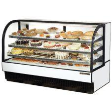 True® TCGR-77 Black Exterior 43 Cu. Ft. Refrigerated Bakery Case