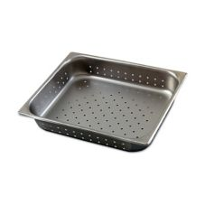 "Browne Foodservice 8124P Half-Size 4"" Deep Perforated Pan"