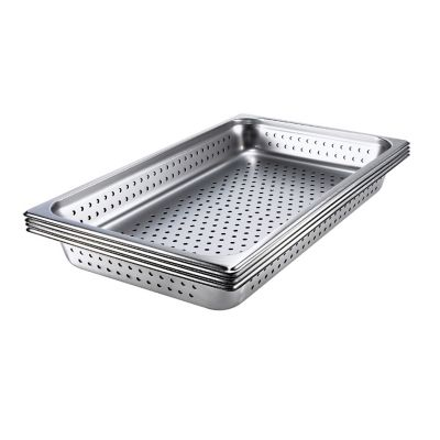 Browne Foodservice 8004P Full-Size x 4 D Perforated Pan