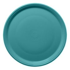 "Homer Laughlin China 505107 Fiesta Turquoise 15"" Pizza Plate - 4 / CS"