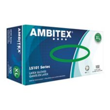 Tradex L5101-XL Ambitex® XL Powdered Latex Gloves - 100 / BX