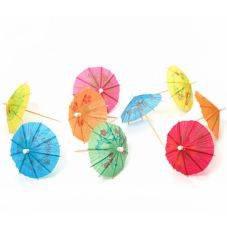 Rofson 1602237 Assorted Design / Color Drink Parasols - 144 / BX