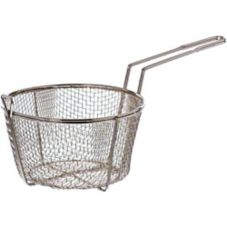 "Update International 8-1/2"" Round Wire Fry Baskets"