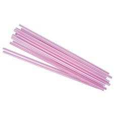 "Prime Source 7-3/4"" Jumbo Red / White Unwrapped Straws"
