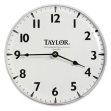 "Taylor® Precision Brushed Silver 12"" Patio Clock"