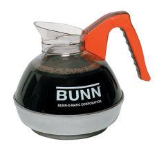 BUNN® 6101.0103 Easy Pour 64 Oz. Orange Coffee Decanter - 3 / PK