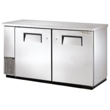 True® S/S Solid Door Food Rated Back Bar Cooler for 144 6-Packs