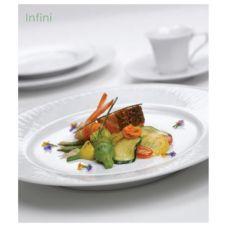 "Steelite 6304P503 Rene Ozorio Infini White 9.5"" Buffet Plate - 24 / CS"