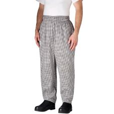 Chefwear® 3000-10 XLG XL Black/White Houndstooth Baggy Chef Pants