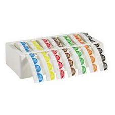 "Cold Temp Bilingual 1"" Label Kit w/Dispenser, Mon-Sun"