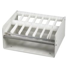 "DayMark White Plastic 1"" 7-Slot Label Dispenser"
